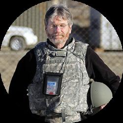 Gabe Souza photo, courtesy of Portland (Maine) Press Herald Bill Nemitz in Kabul, Afghanistan, in June 2010.