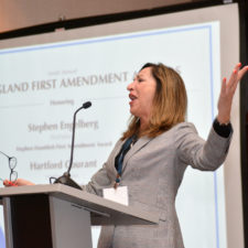 Karen Bordeleau, President of the New England First Amendment Coalition. Boston Renaissance Waterfront Hotel.