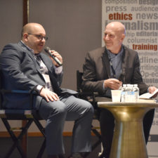 Jason Rezaian of the Washington Post and Bill Kole of Associated Press, discuss Jason's ordeal as a prisoner in Iran at the New England Newspaper Convention, 2019.