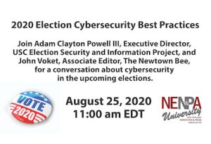 2020 Election Cybersecurity Best Practices