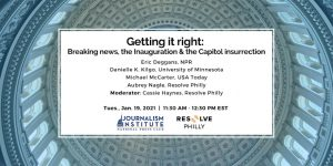 Getting it right: Breaking news, the Inauguration, and the Capitol insurrection
