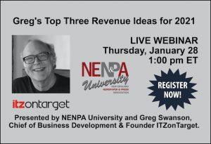 NENPA U: Greg's Top Three Revenue Ideas for 2021