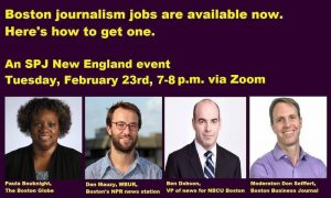 Boston journalism jobs are available now. Here's how to get one